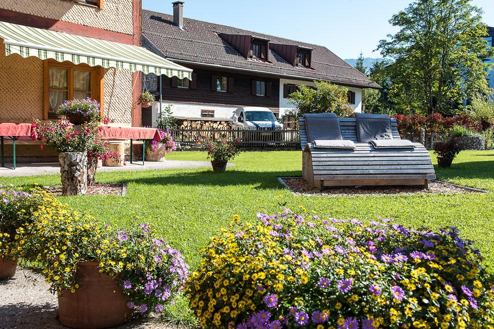 Entspannen im Garten im Vilshof